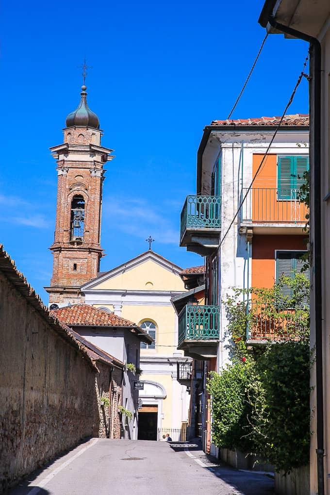 La Morra in Piedmont, Italy