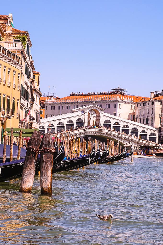 Rialto Bridge over the Grand Canal in Venice, Italy