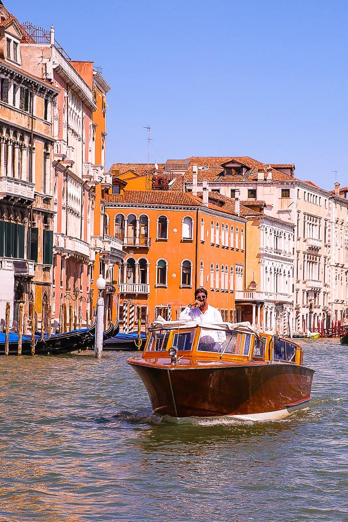 private motorboats in Venice