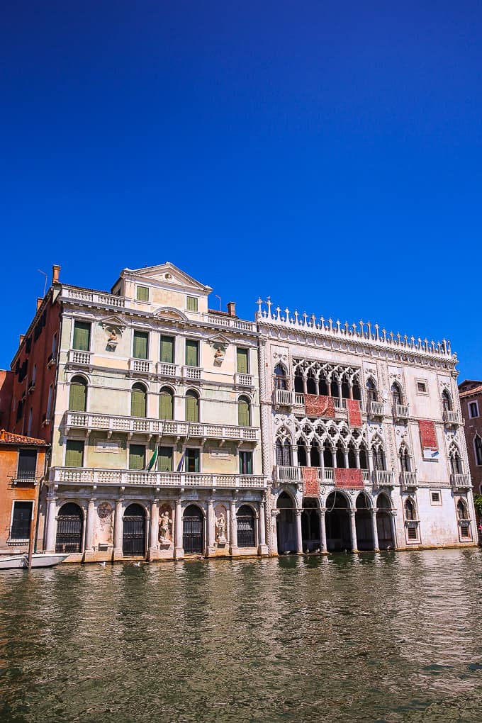 ca d'oro on Grand Canal Venice Italy