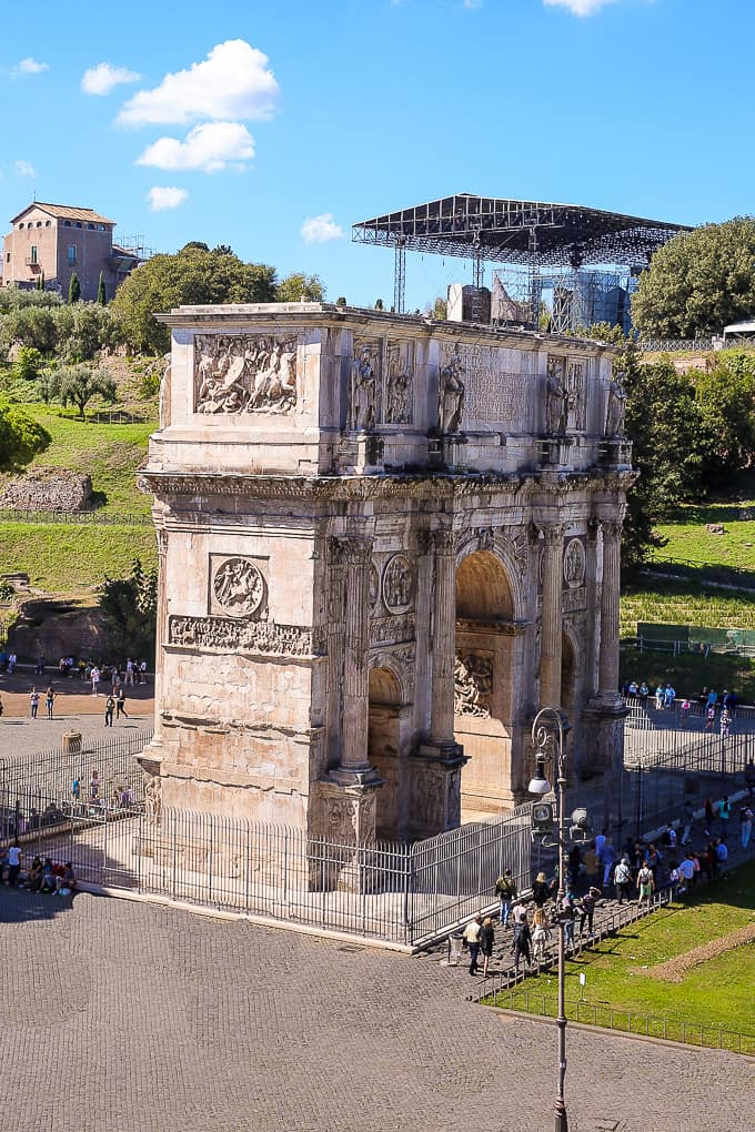 The Arch of Constantine, Rome, Italy