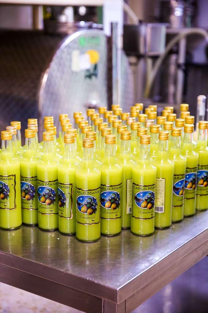 Lemon Liqueur by Carlo Mansi at Minori, Amalfi Coast