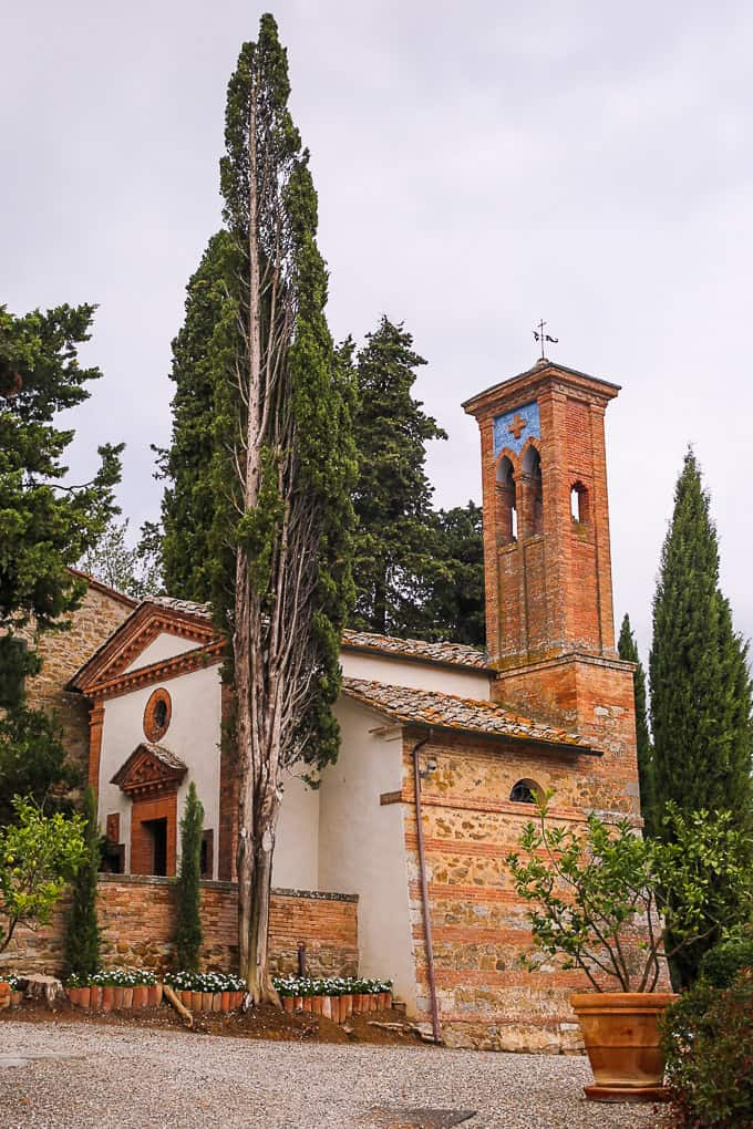 Church at Dievole Resort, Tuscany, Italy