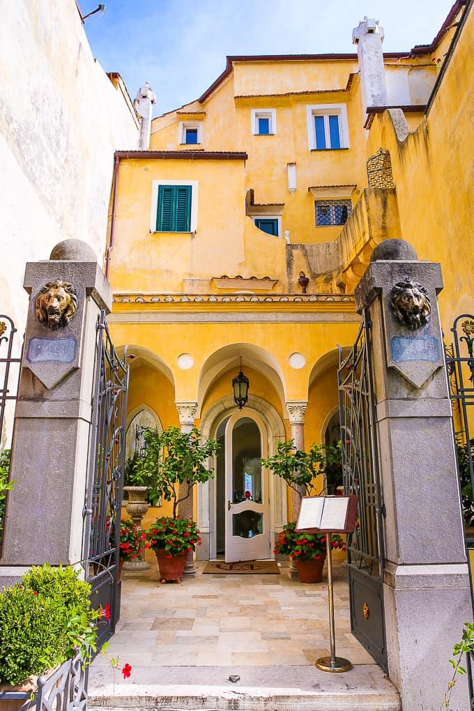 Entrance Hotel Villa Fraulo, Ravello, Italy