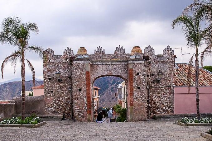The Arco Durazzesco in Forza d'Agrò, Sicily