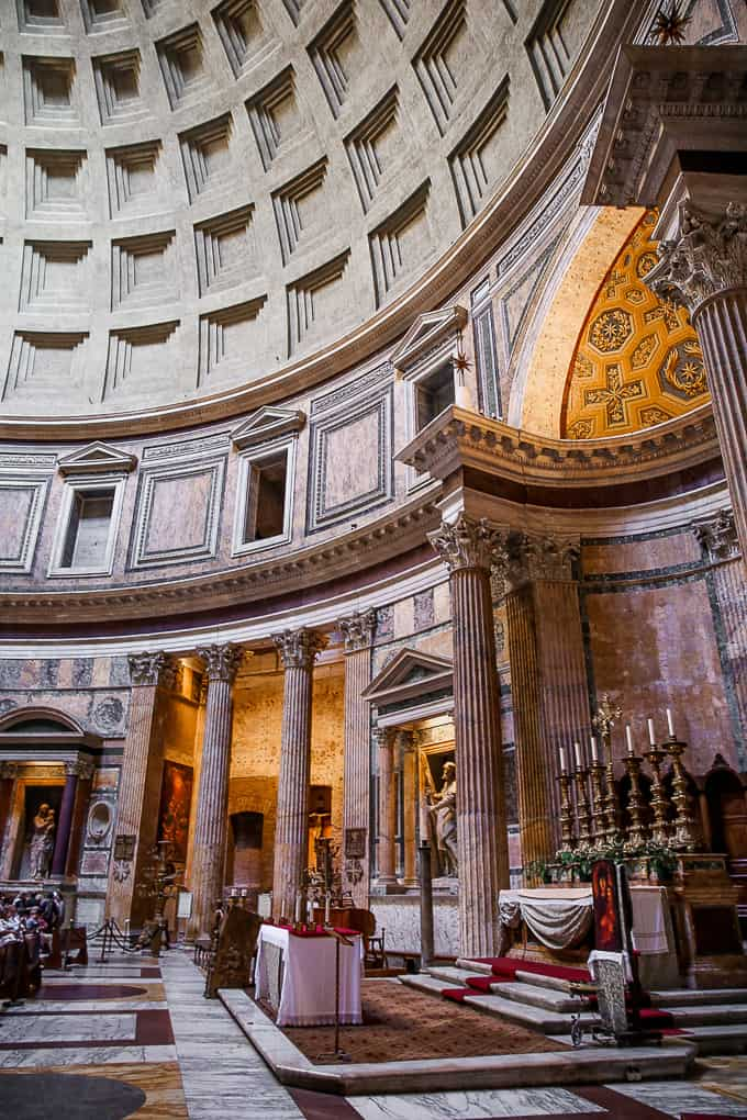 Inside Pantheon, Rome, Italy