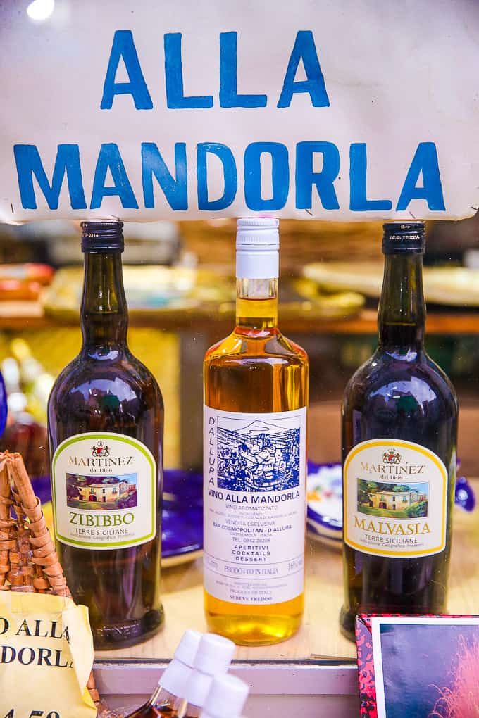 Mandorla wine in Castelmola Sicily