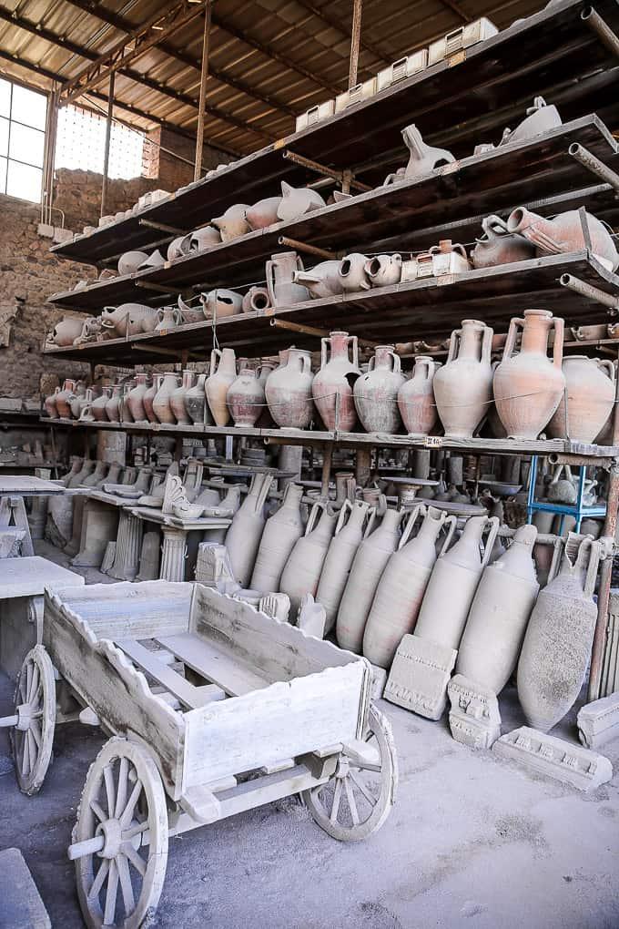 Pottery in Pompeii