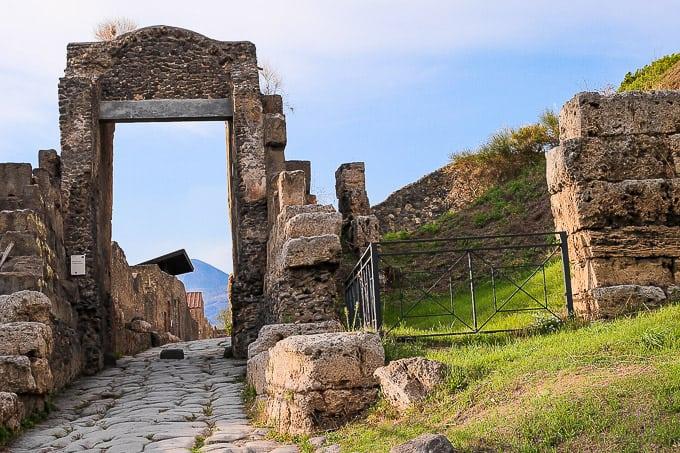 streets in Pompeii, Italy