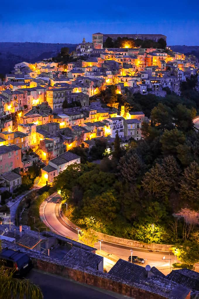 Ragusa Ibla night, Sicily