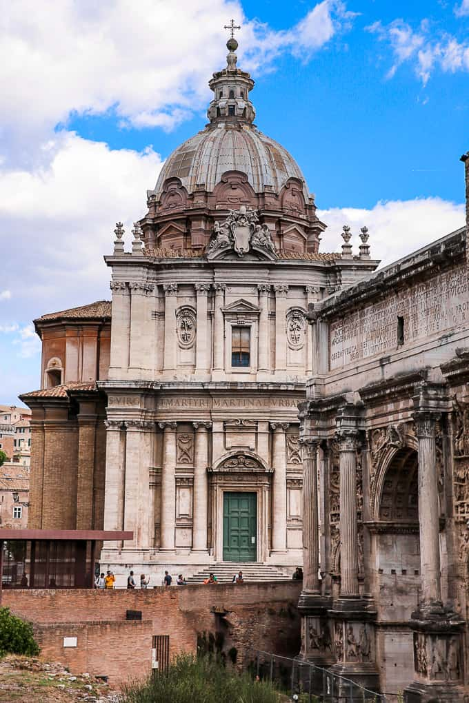 The Church of Santi Luca e Martina, located between Roman Forum and The Forum of Caesar, Rome, Italy