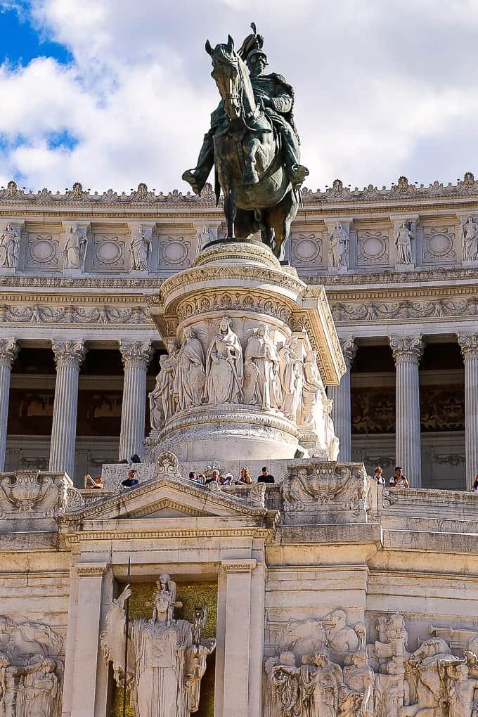 Statue of Vittorio Emanuele II, Rome, Italy
