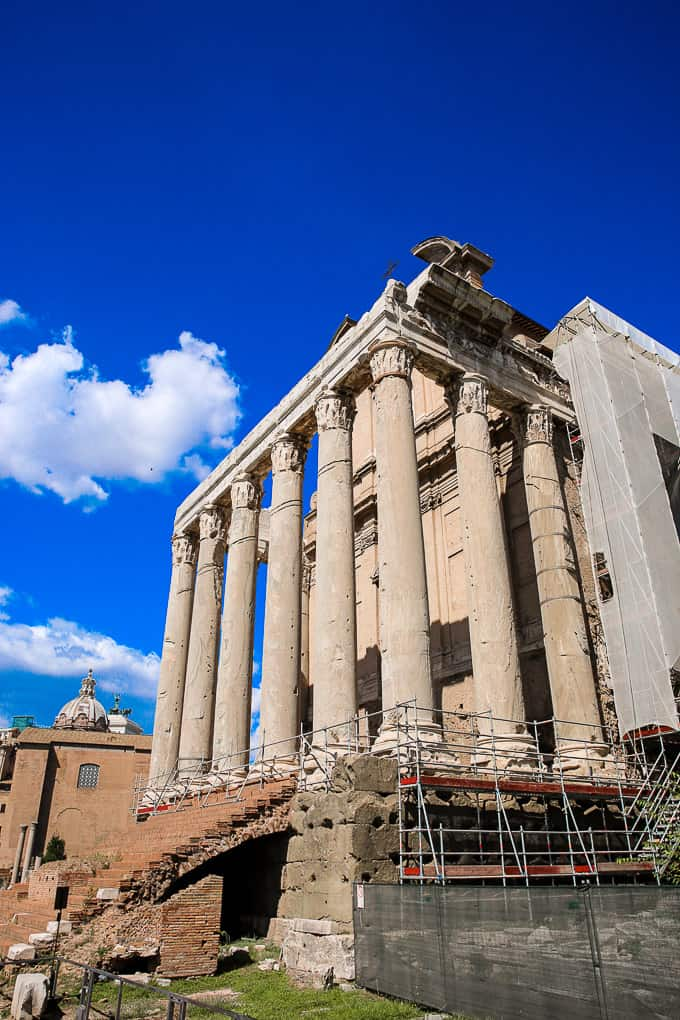 The Temple of Antoninus and Faustina, Roman Forum in Rome, Italy