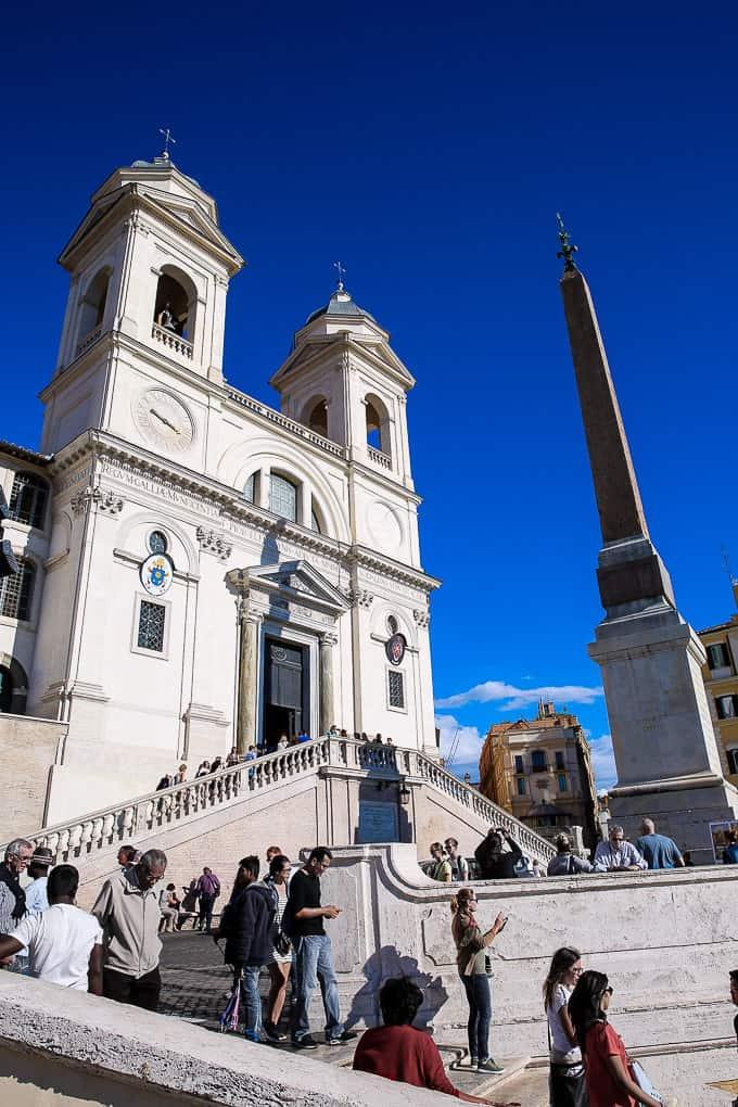 The church of the Santissima Trinità dei Monti