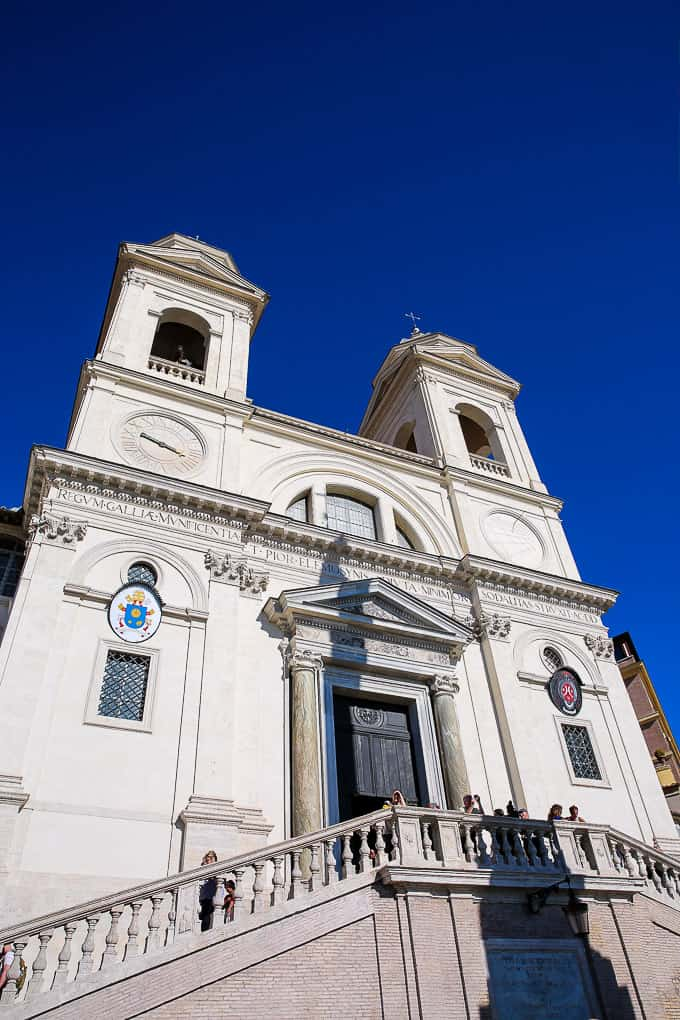 The church of the Santissima Trinità dei Monti