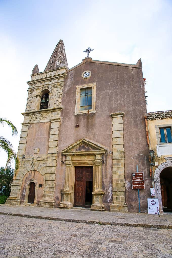 The church of the Santissima Trinità in Forza d'Agrò, Sicily