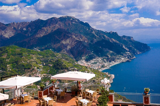 View of the Amalfi Coast from Hotel Villa Fraulo, Ravello, Italy