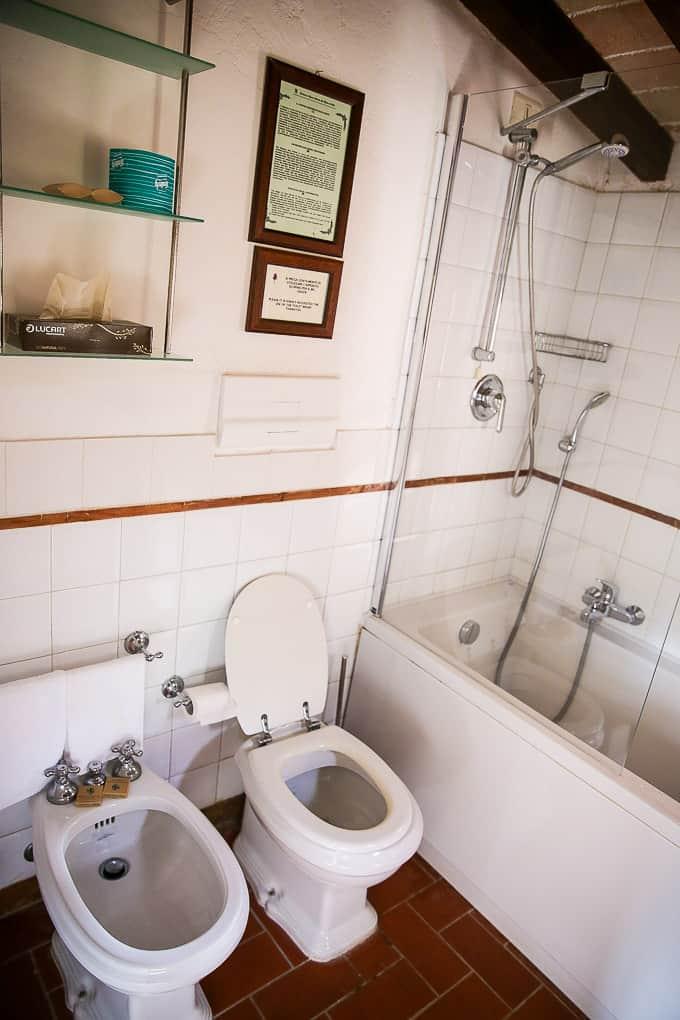bathroom The Hotel Abbazia San Pietro in Valle, Italy