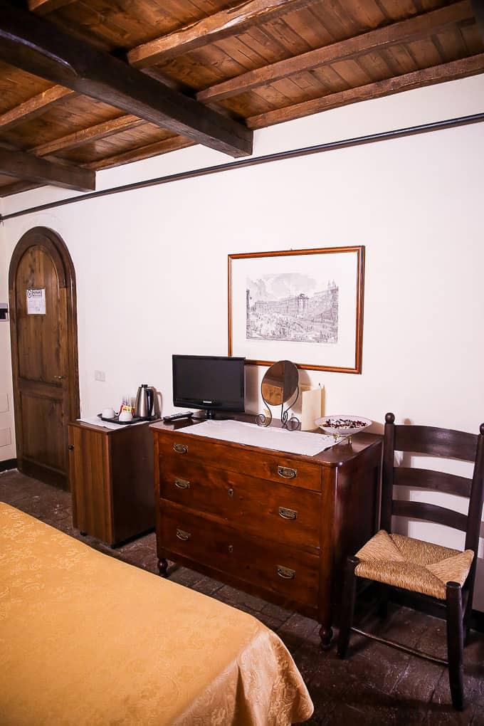 bedroom The Hotel Abbazia San Pietro in Valle, Italy