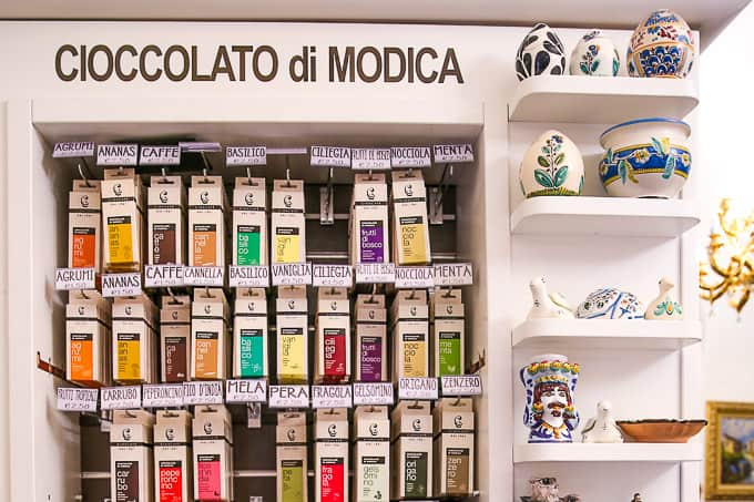 chocolate store in Modica, Sicily, Italy