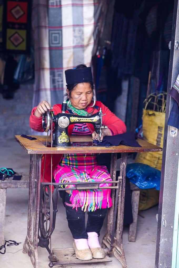 Hard-working woman at Cat Cat village, Vietnam