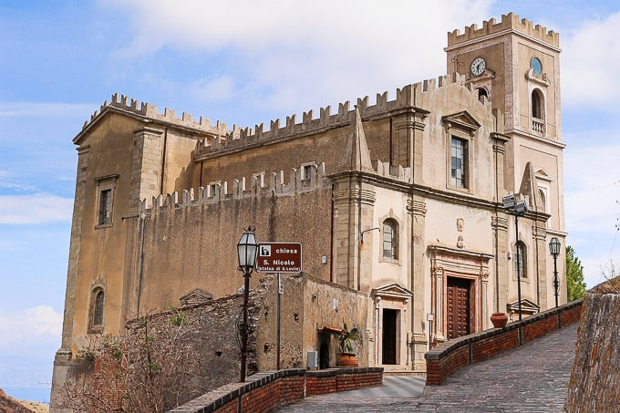 The church of San Nicolò in Savoca, Sicily