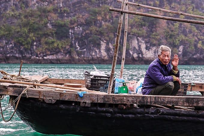 local people on Ha Long Bay, Vietnam
