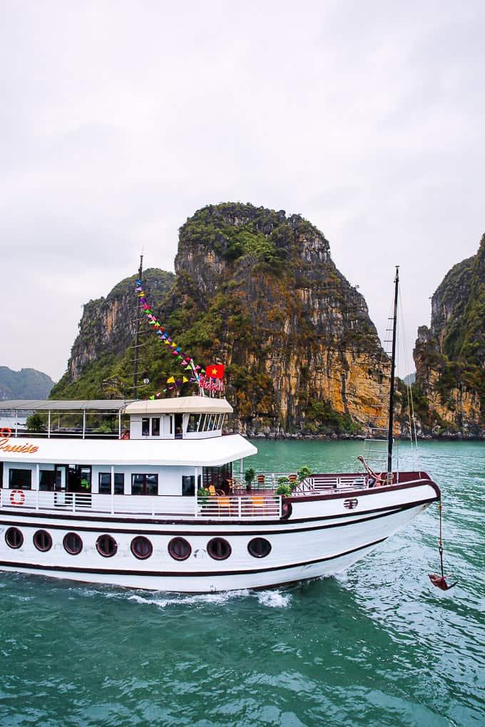 Cruise ship in Ha Long Bay, Vietnam