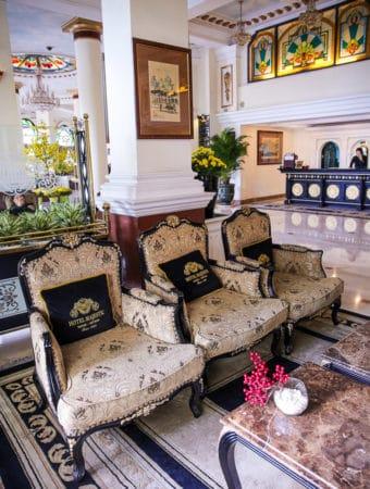 Lobby at Hotel Majestic, Ho Chi Minh City, Vietnam
