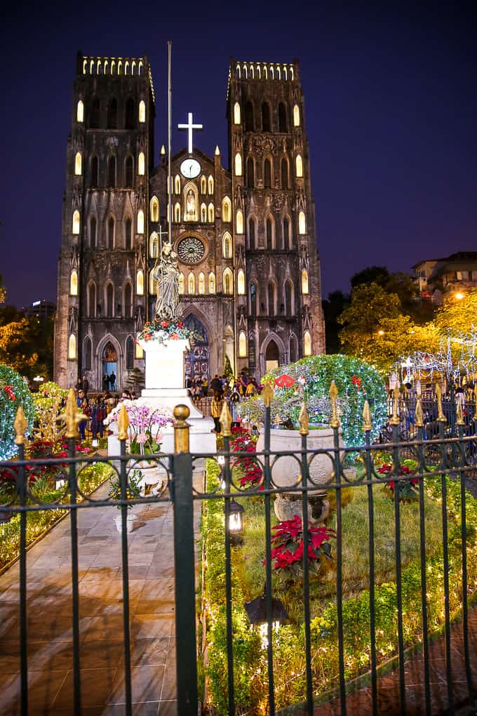 St. Joseph's Cathedral in Hanoi, Vietnam