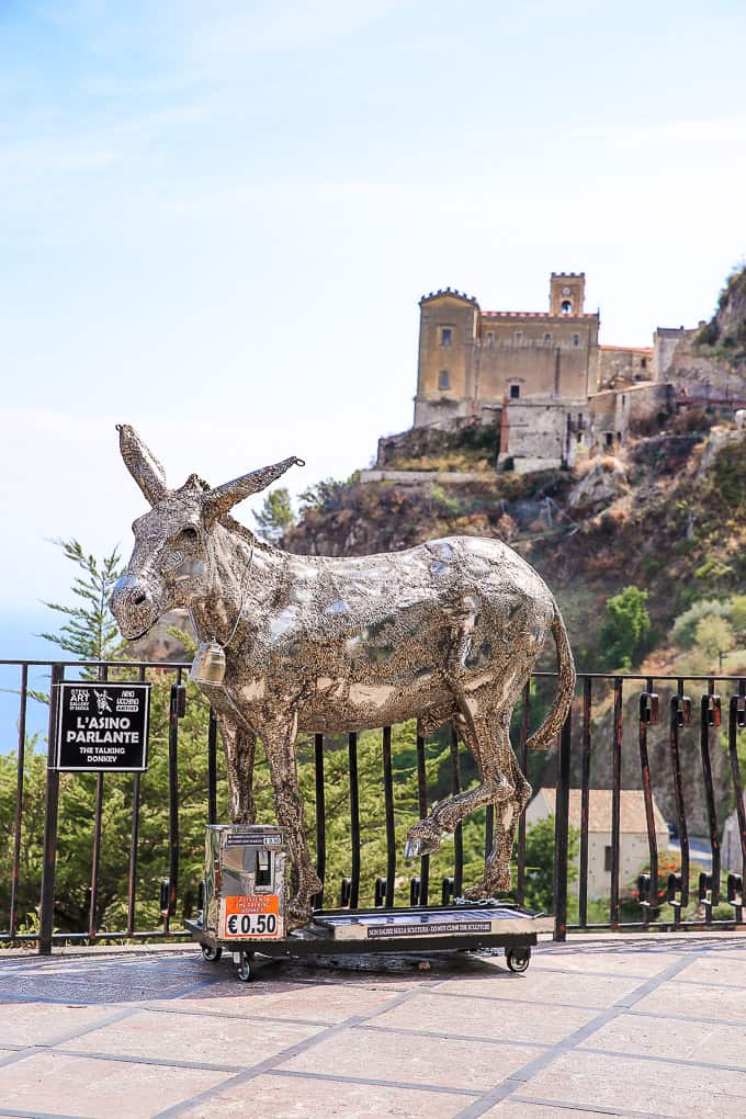 The Talking Donkey in Savoca, Sicily