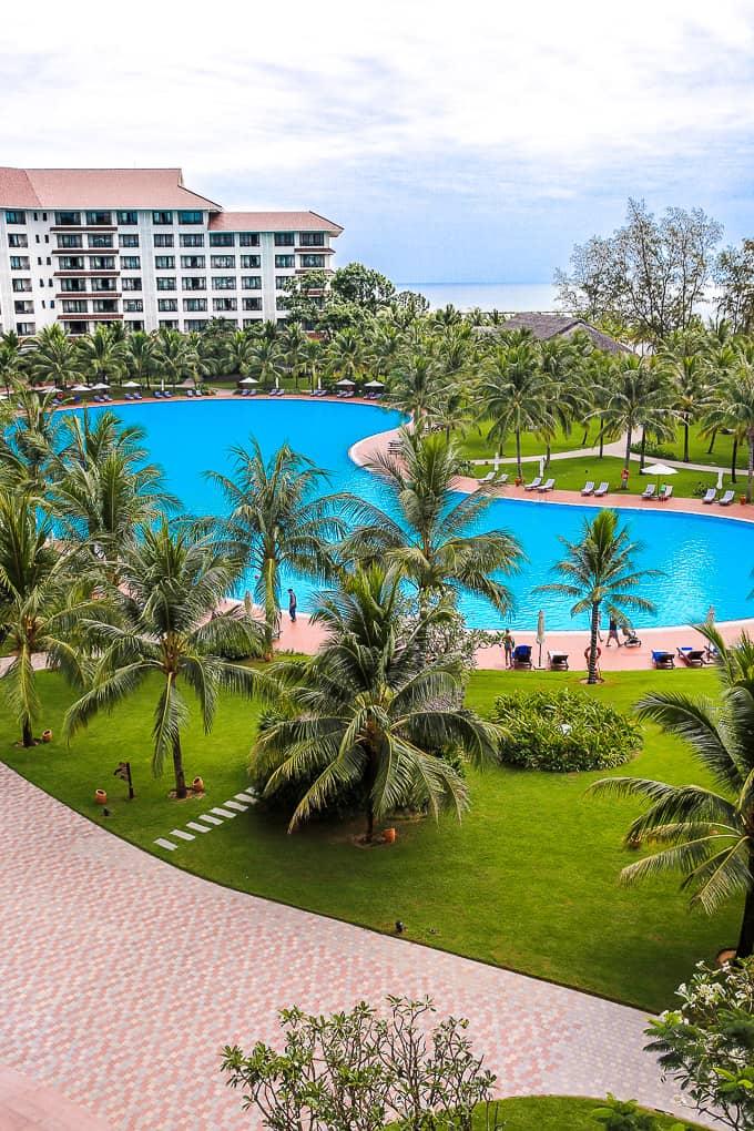 Swimming Pool at Vinpearl Resort, Phu Quoc, Vietnam