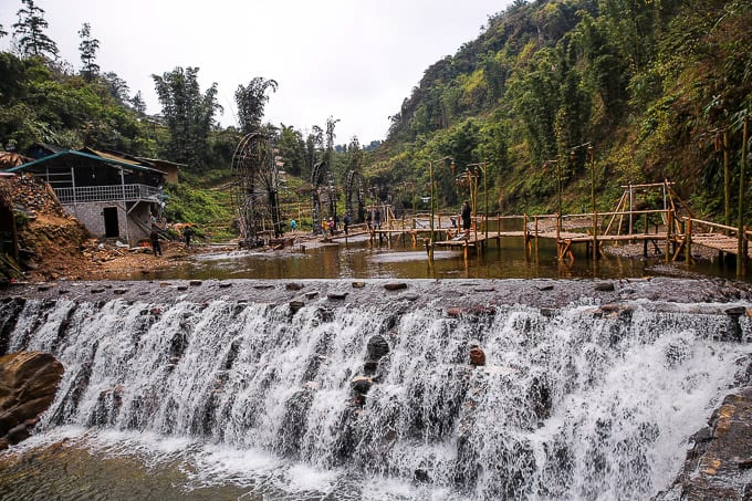 Waterafalls in Cat Cat Village, Vietnam