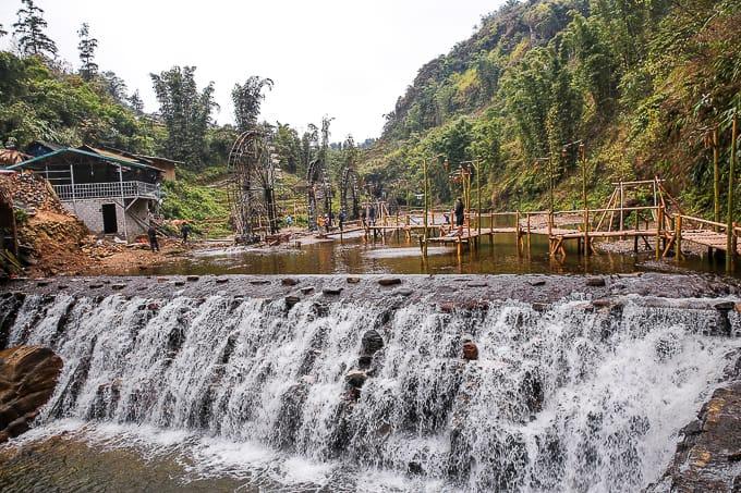 Waterfalls in Cat Cat village, Vietnam