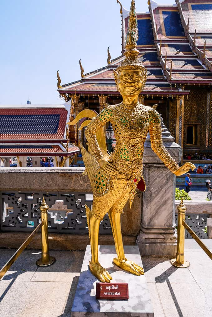 Asurapaksi at Wat Phra Kaew, Bangkok