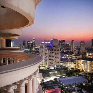View of Bangkok at night from lebua at State Tower Hotel
