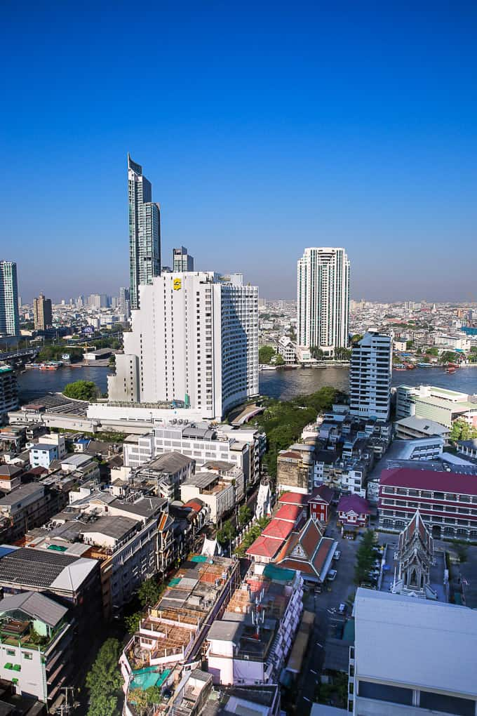 Bangkok skyline during daylight