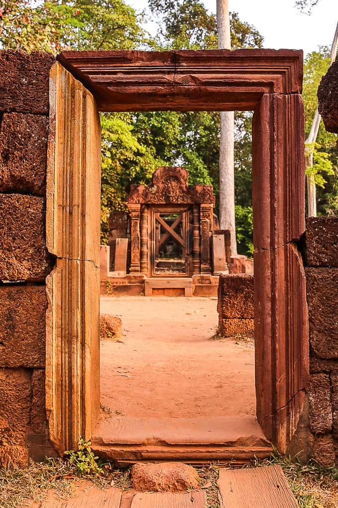 Doorways at Banteay Srei, Cambodia