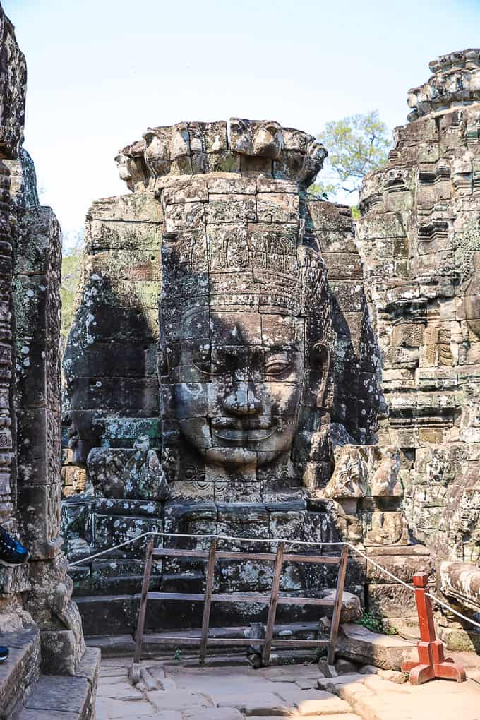 Smiling faces at Bayon Temple, Angkor Thom, Cambodia