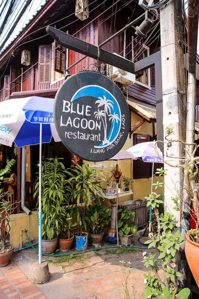 Blue Lagoon Restaurant in Luang Prabang, Laos