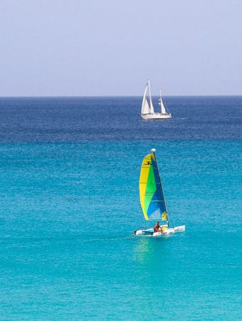 Hobie wave sailboat, Barbados