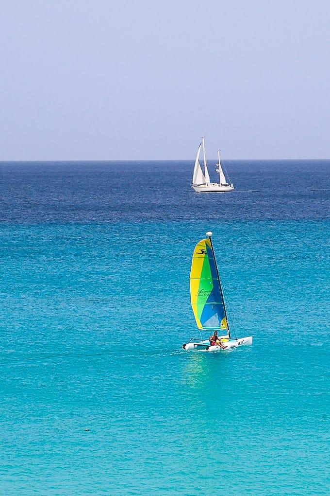 Hobie wave sailboat, Barbados