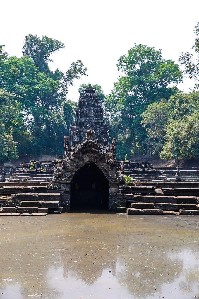 Jayatataka Baray Surrounding Neak Pean Temple next to the Preah Khan Temple