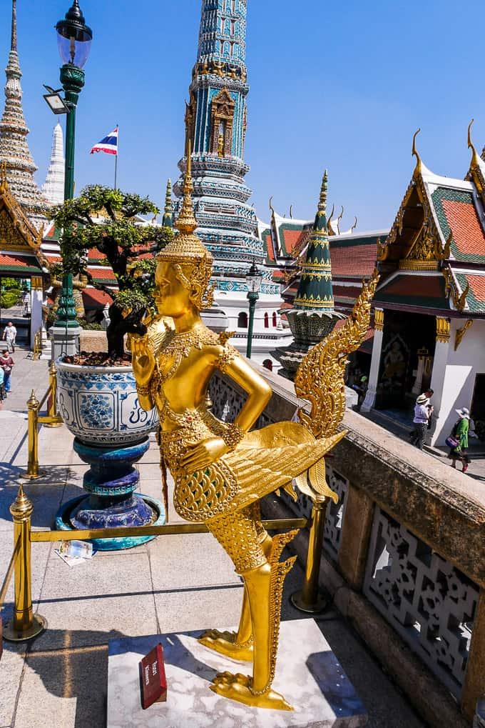 Kinnorn at Wat Phra Kaew, Bangkok