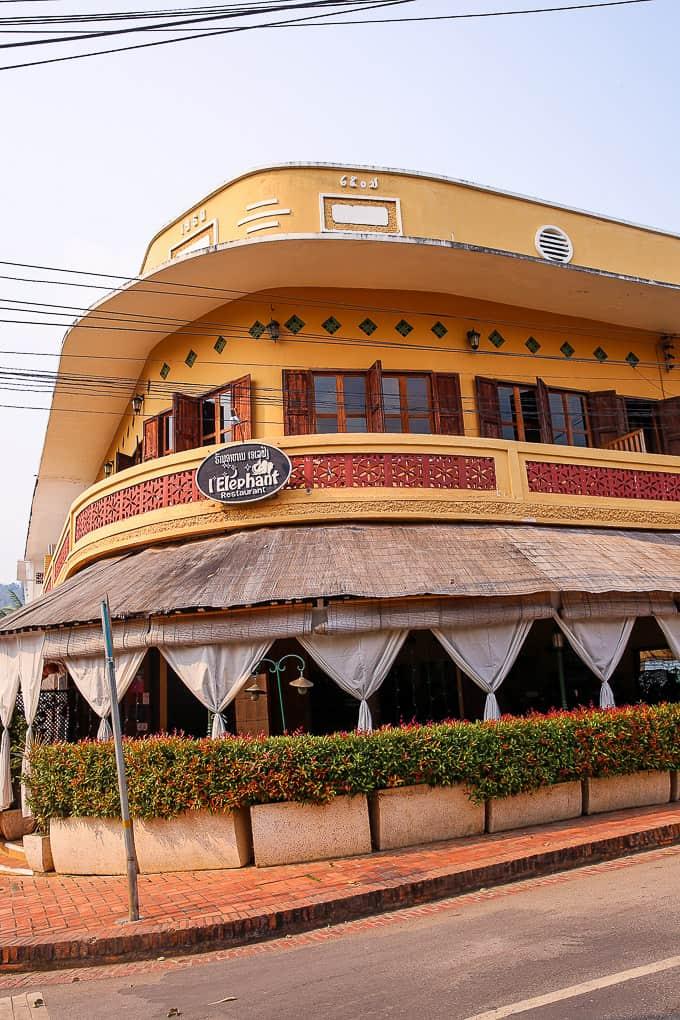 L'Elephant Restaurant in Luang Prabang, Laos