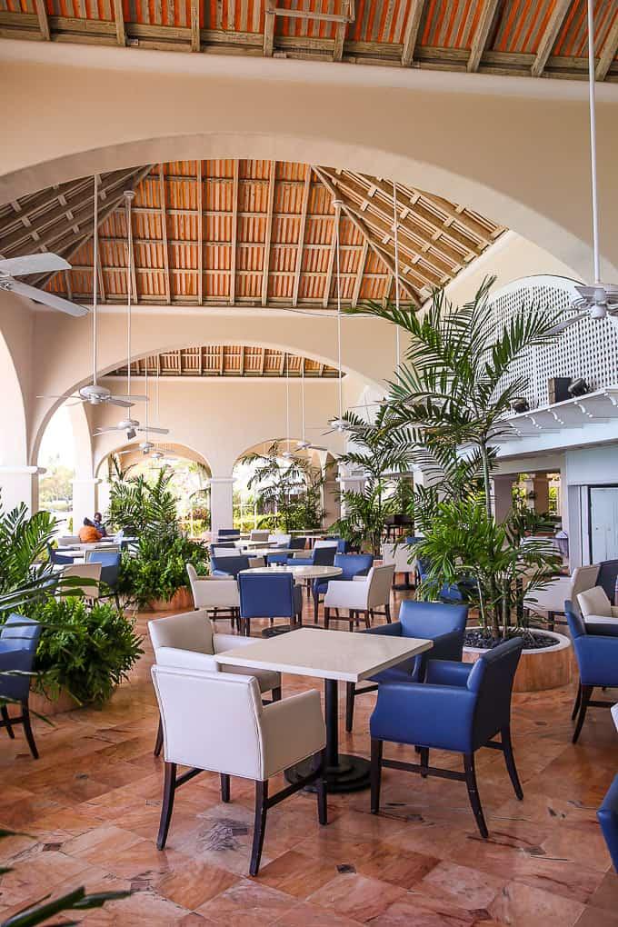 Palm Terrace restaurant, Fairmont Royal Pavilion, Barbados