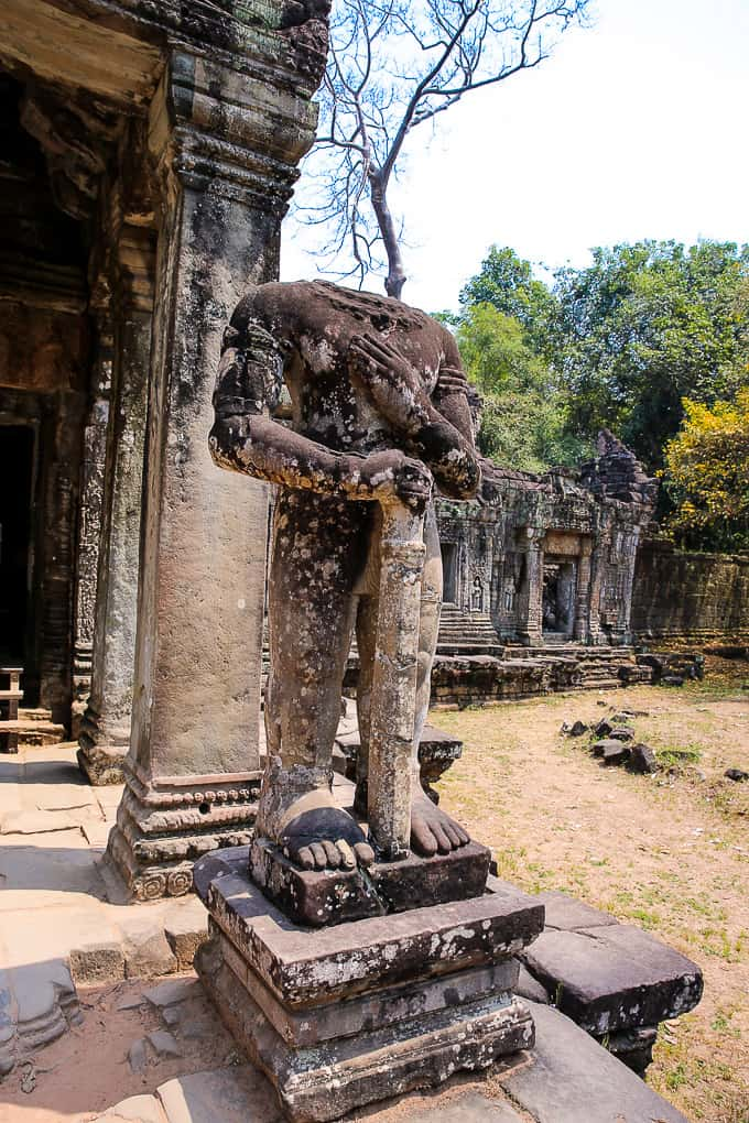 Preah Khan temple complex near Angkor Wat, Cambodia