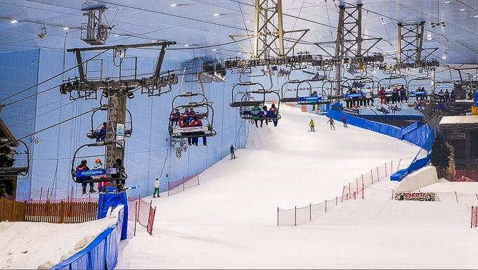 Ski Dubai (an indoor ski resort in the Dubai Mall)