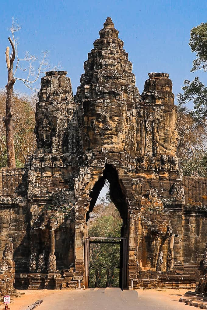 Entry Tower at the South gate of Angkor Thom, Cambodia