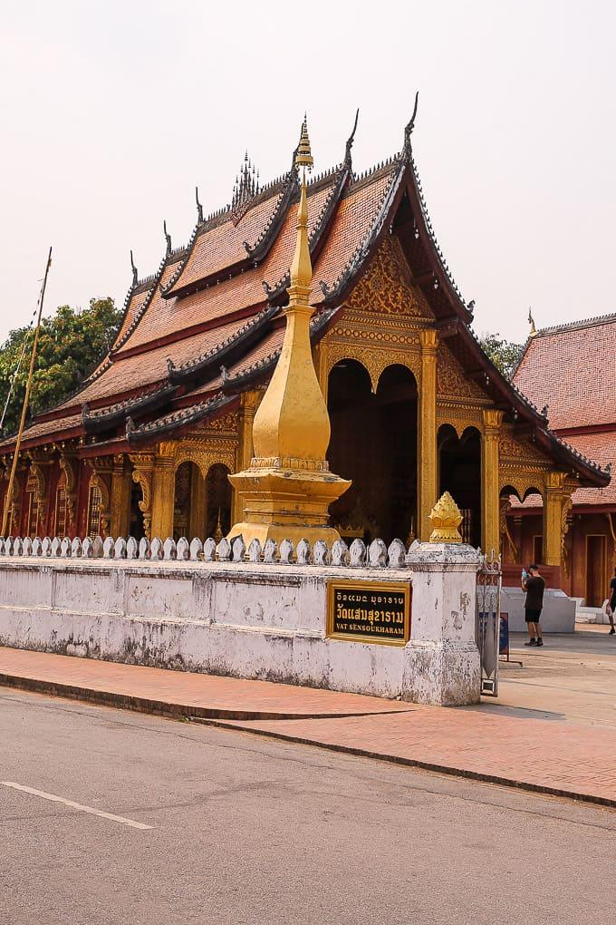 Vat Sensoukharam in Luang Prabang, Laos